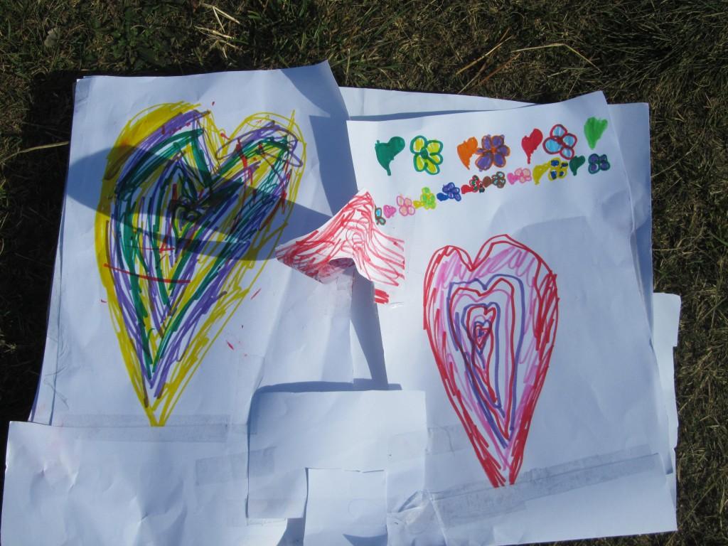 Kinderen kunnen een tekening onder aan de afscheidsballon hangen